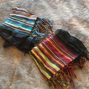 Bundle Two (2) Striped Sheer Scarves